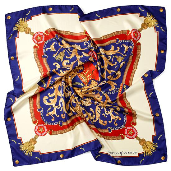 Aspinal Signature Scarf in Blue   Aspinal of London