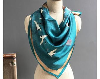 Silk scarf   Etsy