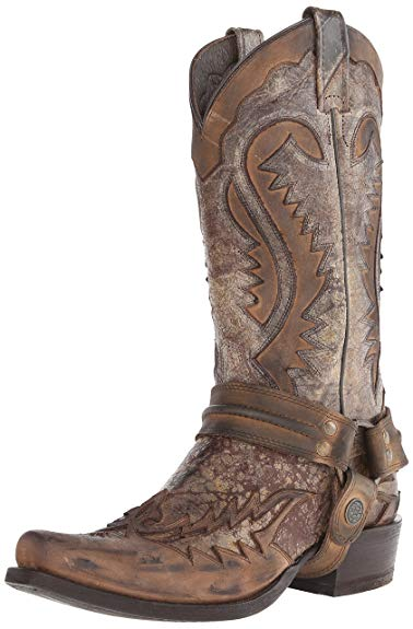 Amazon.com   Stetson Men's Outlaw Distressed Harness Riding Boot