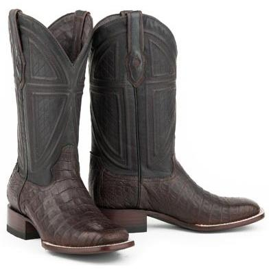 Stetson Kaycee Caiman Belly Boots Authentic Exotic Western Boots