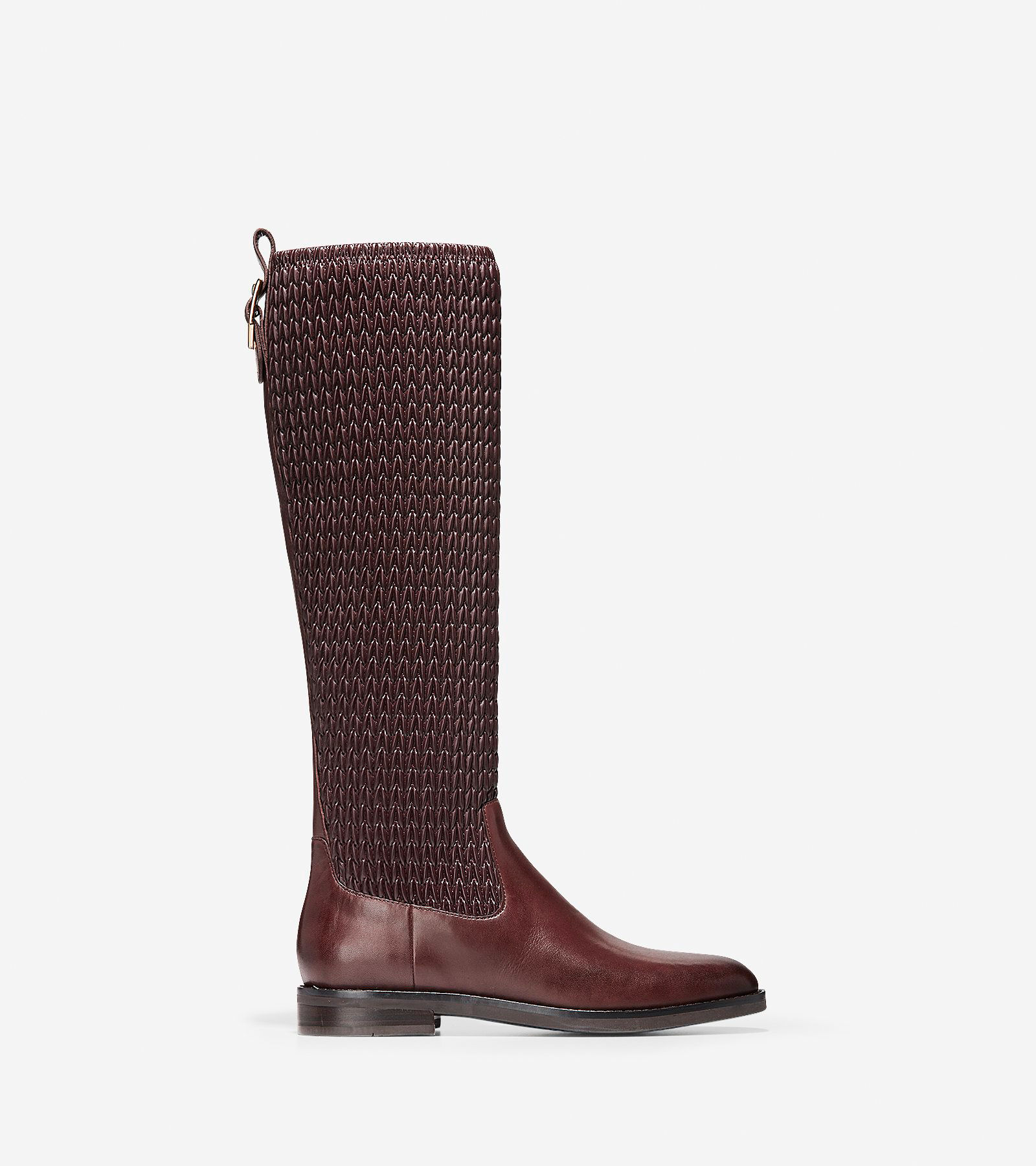 Women's Lexi Grand Stretch Boots in Chocolate   Cole Haan