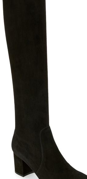 Alberto Zago Shoes   Black Suede Tall Stretch Boots   Poshmark