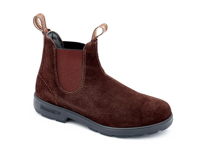 Brown Suede Leather Chelsea Boots, Women's Style 1458 - Blundstone USA