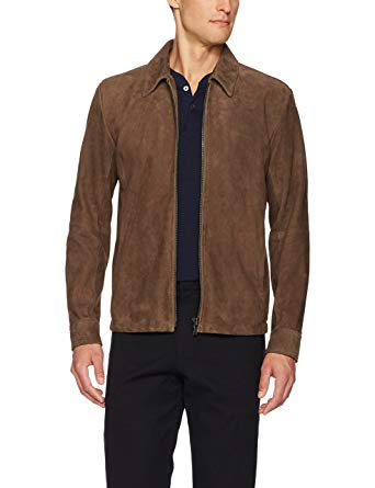 Amazon.com: Theory Men's Suede Front Zip Jacket: Clothing