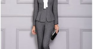 Formal Ladies Pant Suits for Women Business Suits Blazer and Jacket