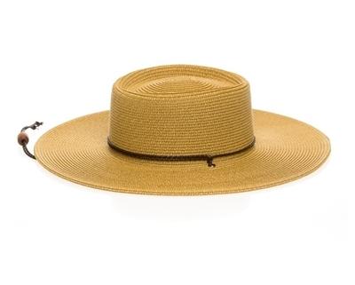 Wholesale UPF 50 Wide Brim Tweed Straw Sun Hats - Buckaroo Hat with