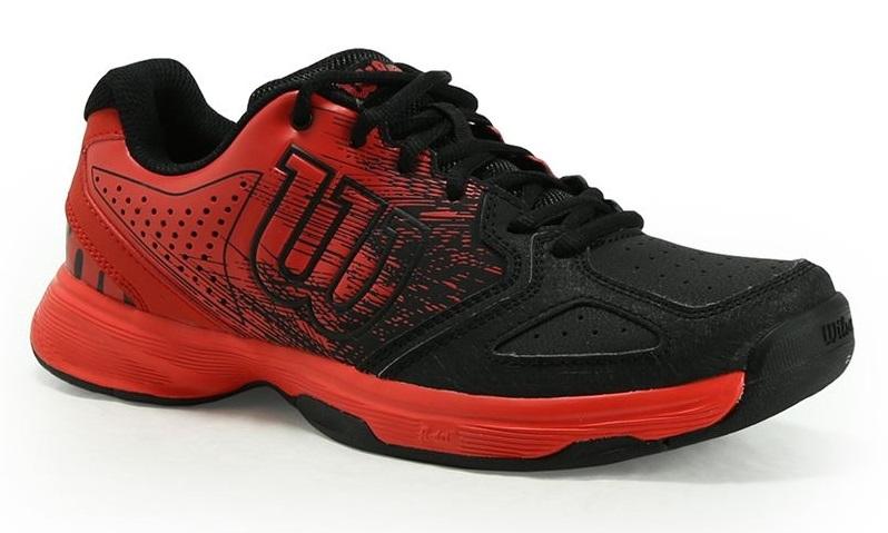 Wilson Kaos Comp Jr. Tennis Shoes Red/Black
