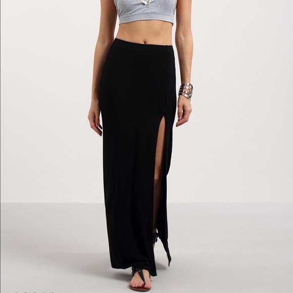 WINDSOR Skirts | Long Tight Skirt With Side Slit | Poshmark