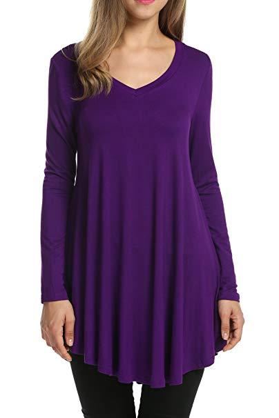 Hotouch Women's Tunic Top Long Sleeve Leggings Shirt Sweatshirt Plus