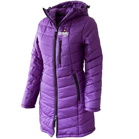 Buy Victoria Womens 5 Zone Heated Jacket, Plum at CozyWinters