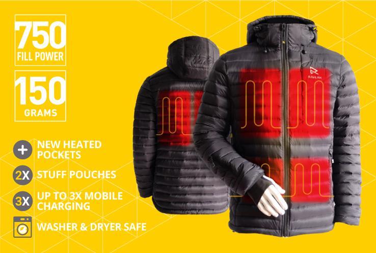 Heated Jackets by RAVEAN® | Battery POWERED Heated Jackets