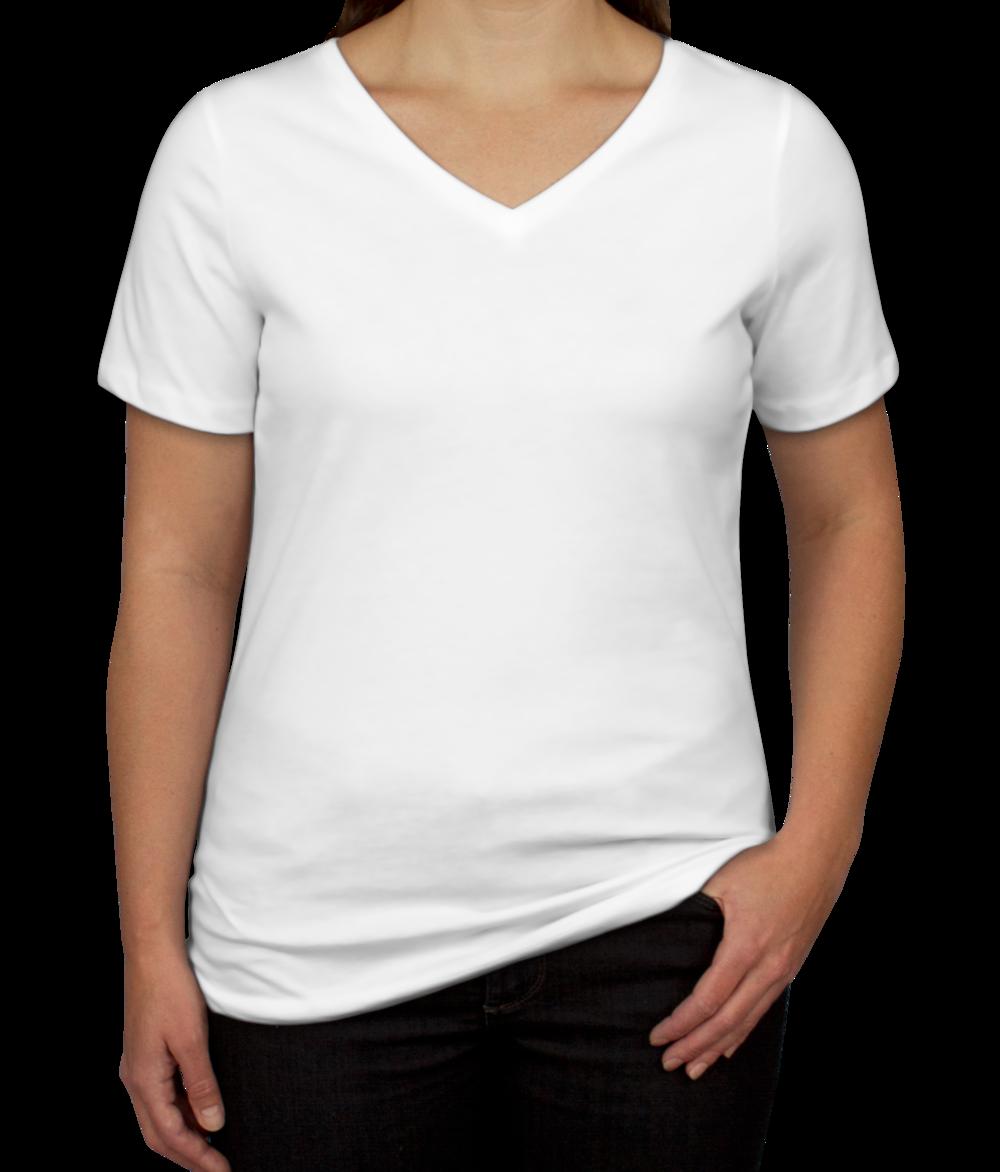 Custom Bella + Canvas Women's V-Neck T-shirt - Design Women's Short