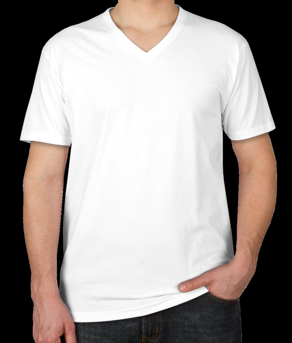 Custom Next Level 60/40 V-Neck T-shirt - Design Short Sleeve T