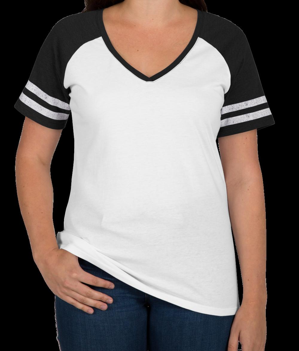 Custom District Women's Game Time V-Neck T-shirt - Design Women's