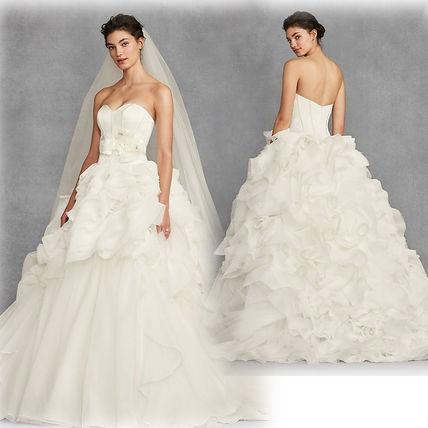 Vera Wang 2018 SS Plain Long Wedding Dresses (VW351411) by NHT.inc