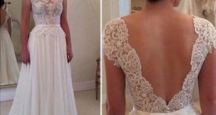 Aolanes Vintage Lace Full Sleeve Backless Lace Wedding Dress 2016 on