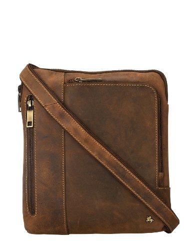 Visconti Leather Distressed Messenger Bag / Crossbody Bag / Handbag