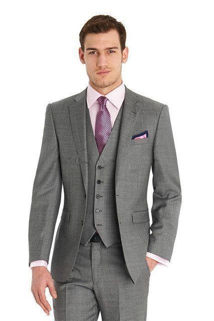 New Arrival Custom made Light Gray Tailcoat Men Suit Set Slim