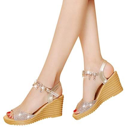 Amazon.com: High Heels Wedge Sandals Slipper Women Platform Shoes
