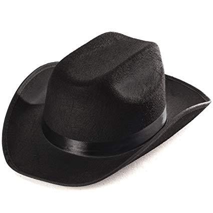Amazon.com: Funny Party Hats Black Cowboy Hat - Cowboy Hats