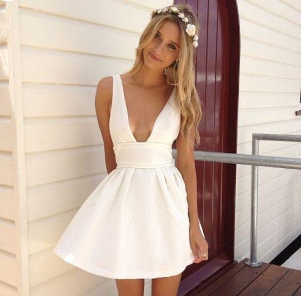 dress, prom dress, white dress, graduation dresses, skater dress