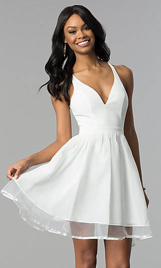Graduation Dresses, Casual White Dresses - PromGirl