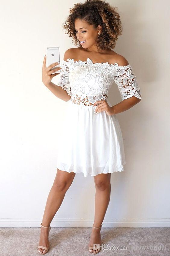 Party with white graduation dresses