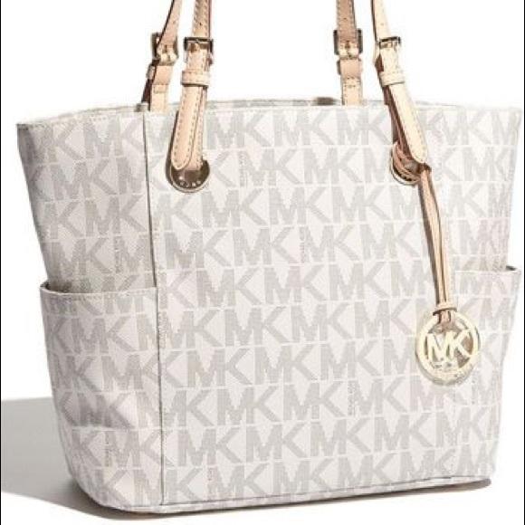 Michael Kors Bags | Mk White Bag | Poshmark