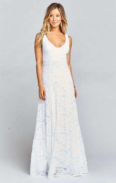 Jenn Maxi Dress ~ Lovers Lace White | Show Me Your MuMu