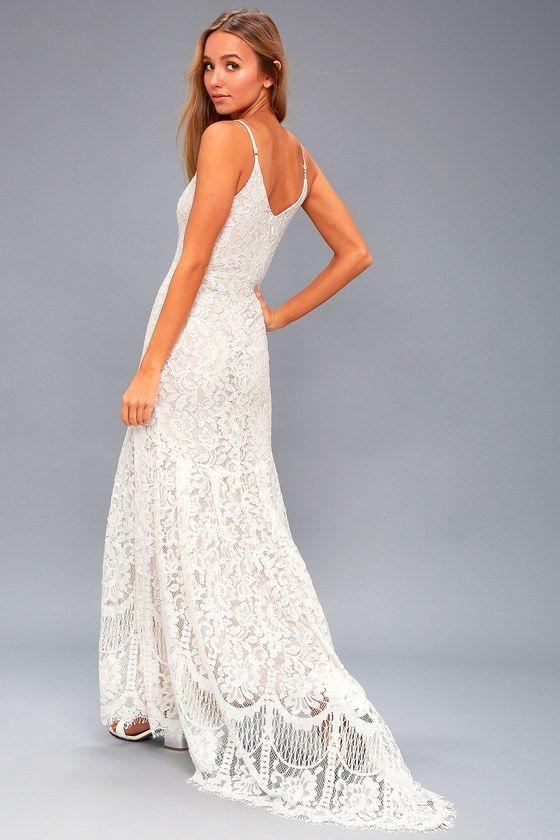 Flynn White Lace Maxi Dress | Dresses | Pinterest | White lace maxi