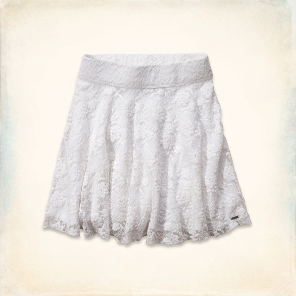 Hollister Skirts   White Lace Skirt   Poshmark