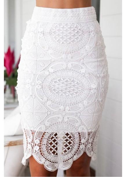 skirt, cute, sexy, women, midi skirt, pencil skirt, white skirt