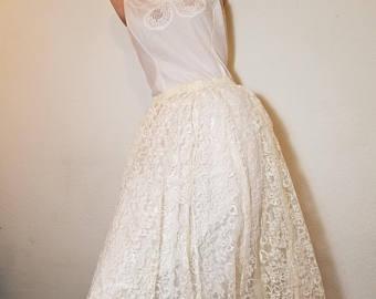 White lace skirt   Etsy