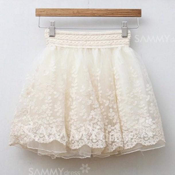 skirt, vintage, vintage lace, short skirt, cute, white lace skirt