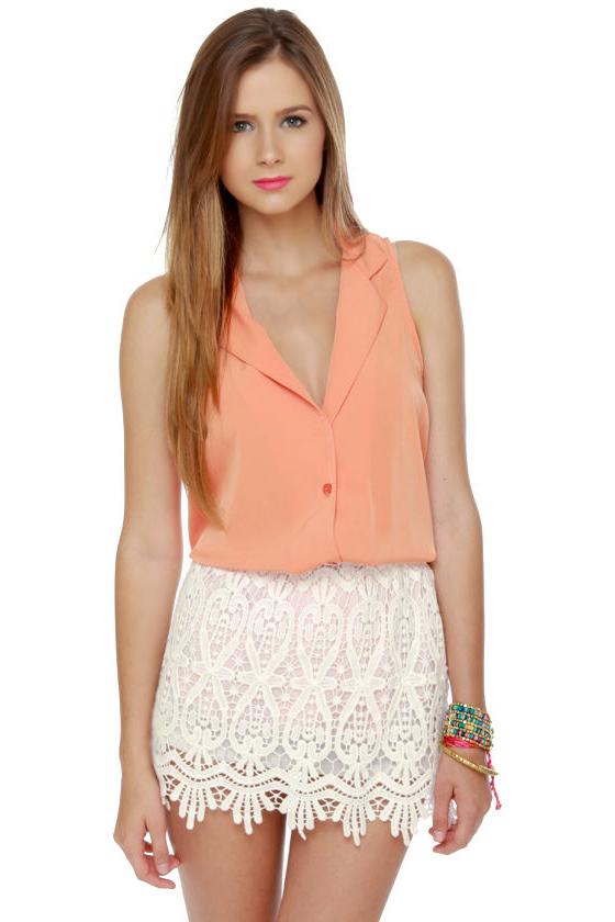 Cute Lace Skirt - White Skirt - Mini Skirt - $34.00