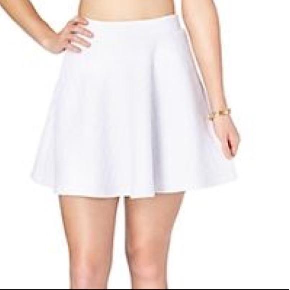 Rue21 Skirts | White Skater Skirt Rue 21 | Poshmark