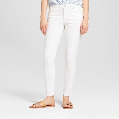 Women's Mid-Rise Skinny Jeans - Universal Thread™ White : Target