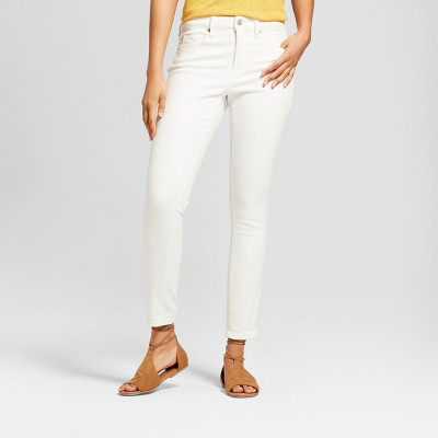 Women's High-Rise Skinny Jeans - Universal Thread™ Eggshell : Target