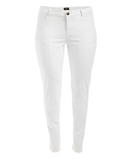 GAZOZ, INC. White Skinny Jeans - Women | Zulily
