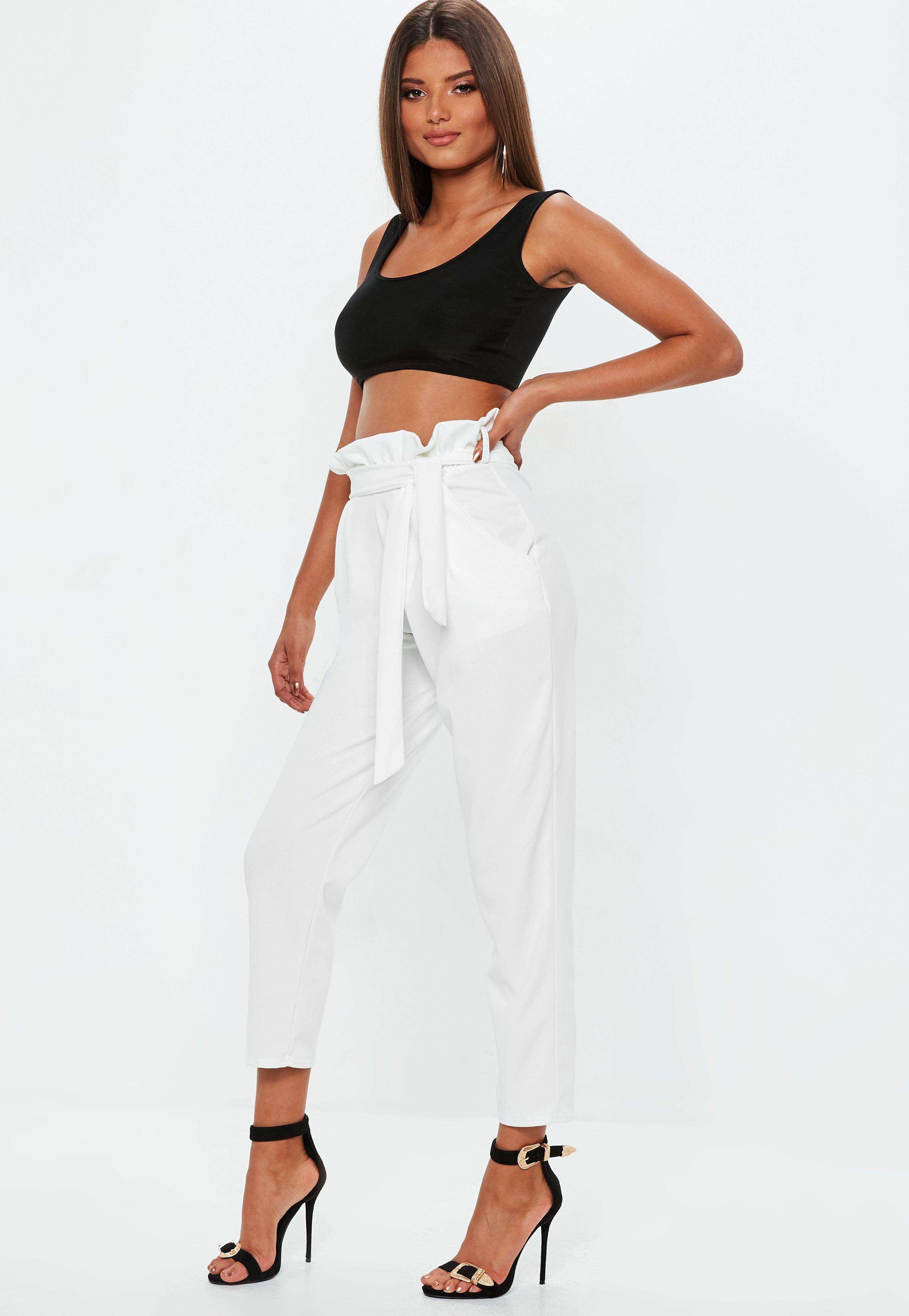 White Trousers | Women's White Trousers Online - Missguided