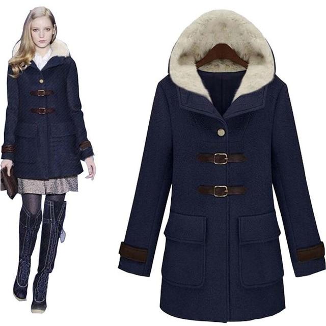 New Fashion Winter Coat Women Long wool coats women Jackets women's