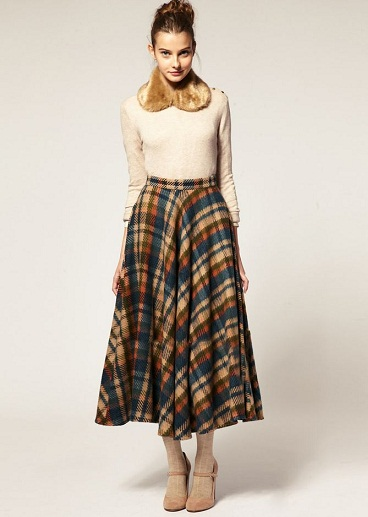 9 Best & Comfortable Winter Skirts for Women   Styles At Life
