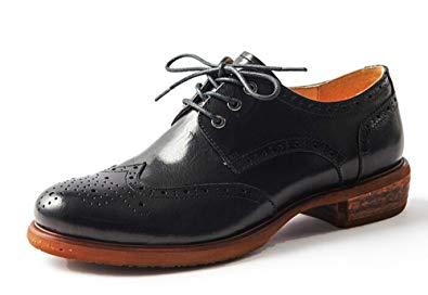 Amazon.com | Oxford Shoes for Women Womens Wingtip Black Brown Laces