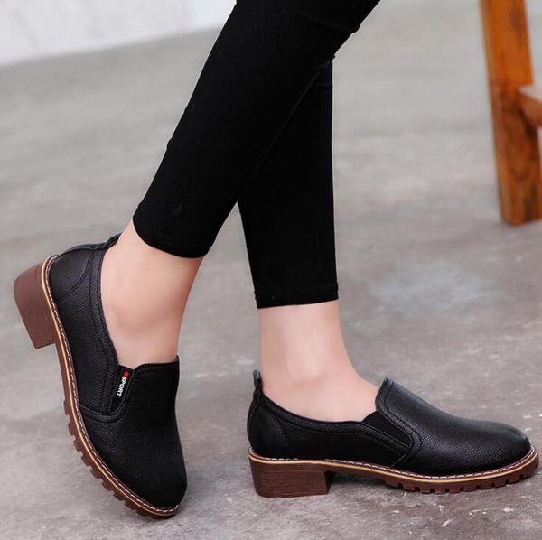 Shoes - 2018 Women's Genuine Leather Oxford Shoes u2013 Kaaum