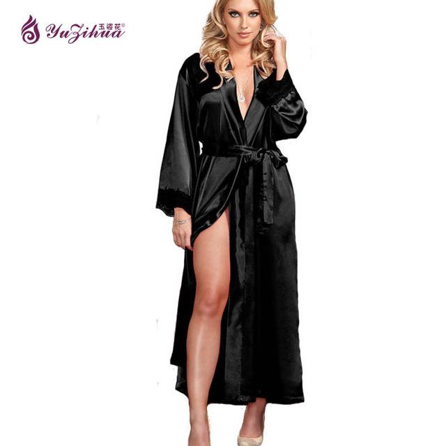 Big Silk Robes For Women Bathrobe Satin Robe Sexy Robes Dressing