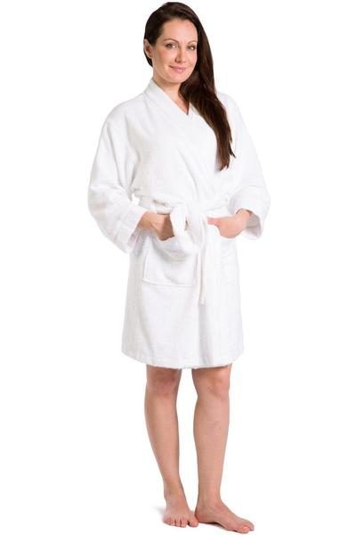 Women's Robes | Terry Cloth Kimono Style Short Robe | Fishers Finery
