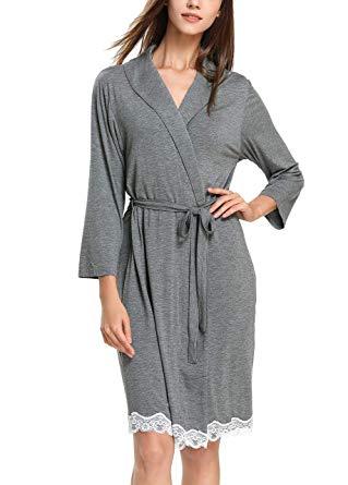 GUANYY Women Robe Soft Kimono Robes Cotton Bathrobe Sleepwear