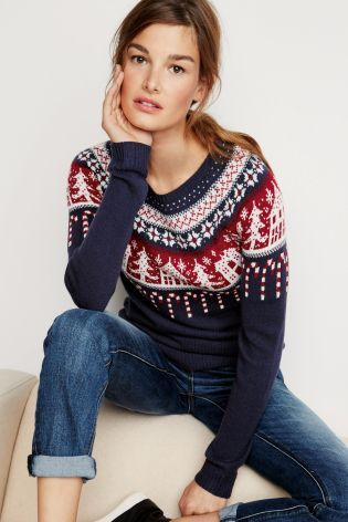 Women's Christmas jumper Candy Cane Sweater from Next | Clothes
