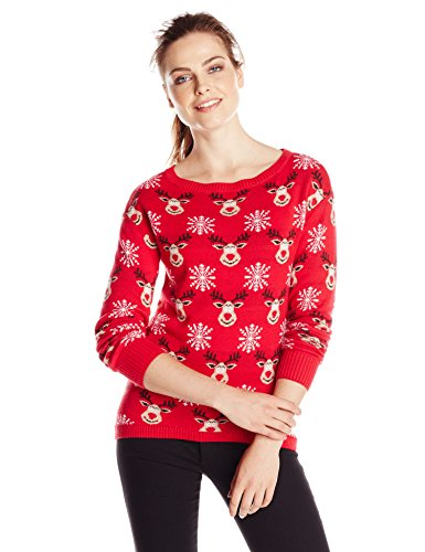 Amazon.com: Isabella's Closet Women's All Over Reindeers Ugly