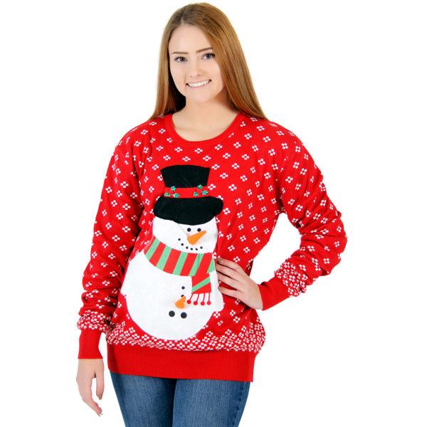 Women's Snowman Christmas Sweater